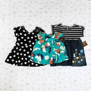 Baby Girl Dresses and Top - 6 & 9 mos.